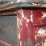 A close look at the paint layers on the bevel