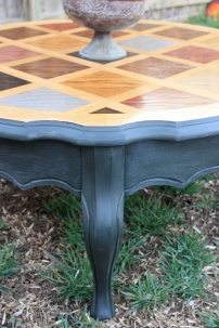 Love the lines and details of this french provincial coffee table