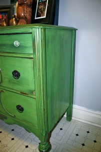 Love the detailing on these antique dressers