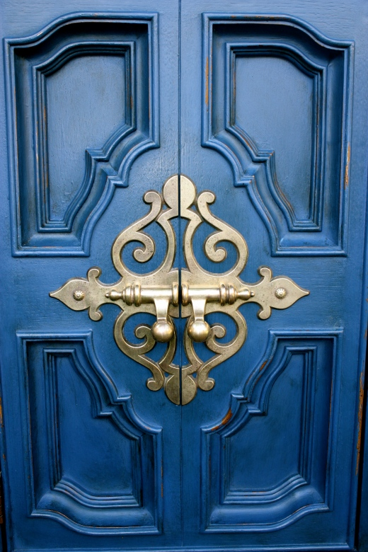 Stunning hardware on the door
