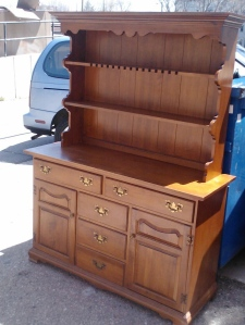 Solid maple, vintage buffet.  Available with or without hutch.