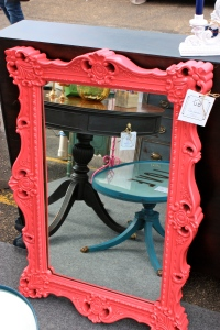 Pink Lacquered mirror